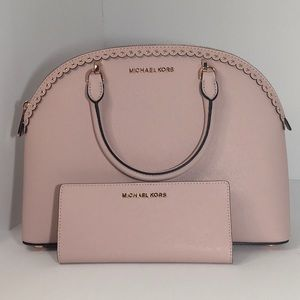 Michael Kors Emmy Large Dome Satchel and Wallet
